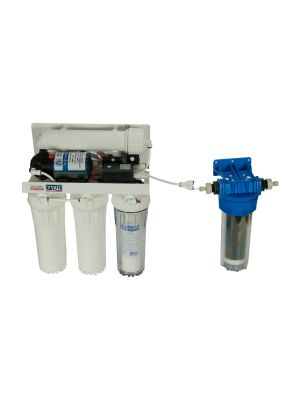 RO-1 Dental Pumped 5-Stage Reverse Osmosis 50 US GPD (185 Litres) Pure Water Filter System with Optional DI Resin Stage for Autoclaves and Commercial Steam Sterilisers