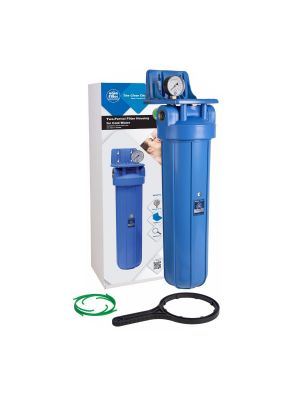 20 Inch Big Blue Water Filter Housing with Pressure Gauge