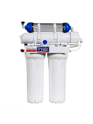 RO-100 Slim Line 4-Stage Reverse Osmosis 100-Gallons-Per-Day (US Gallon) Water Filter System including DI Resin Stage