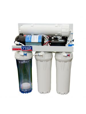 RO-50MP Pumped 4-Stage Reverse Osmosis 50 Gallon Per Day Fish & Aquarium Water Filter System with DI Resin Stage
